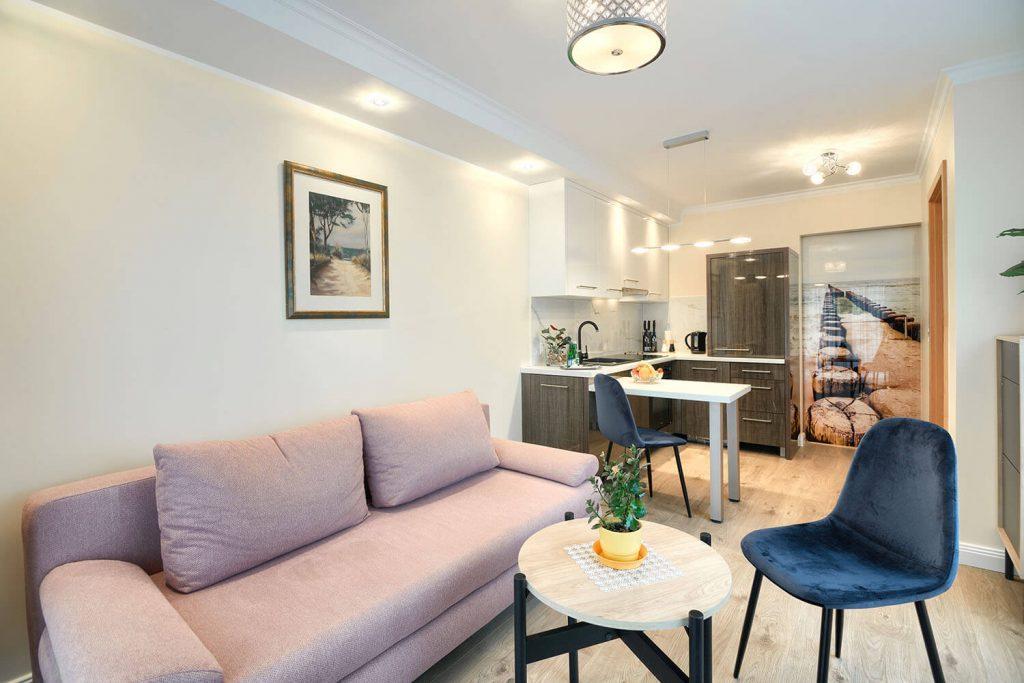 Apartament Andante - pokój wypoczynkowy