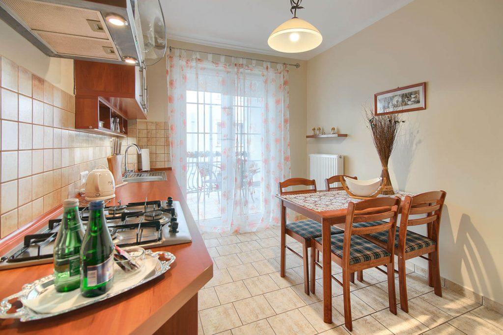 Apartament Alfa Kuchnia z pełnym wyposażeniem